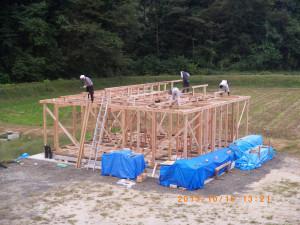建築-写真棟上作業-003
